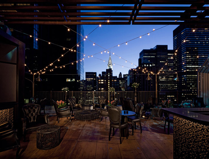 ROOFTOP BARS Upstairs bar at the Kimberly Hotel by Frank Denner