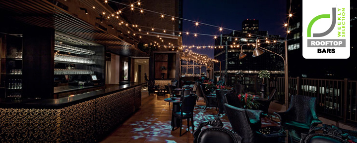 ROOFTOP BARS ROOFTOP BARS  - Luxury Hotels & Resorts Upstairs bar at the Kimberly Hotel by Frank Denner New York