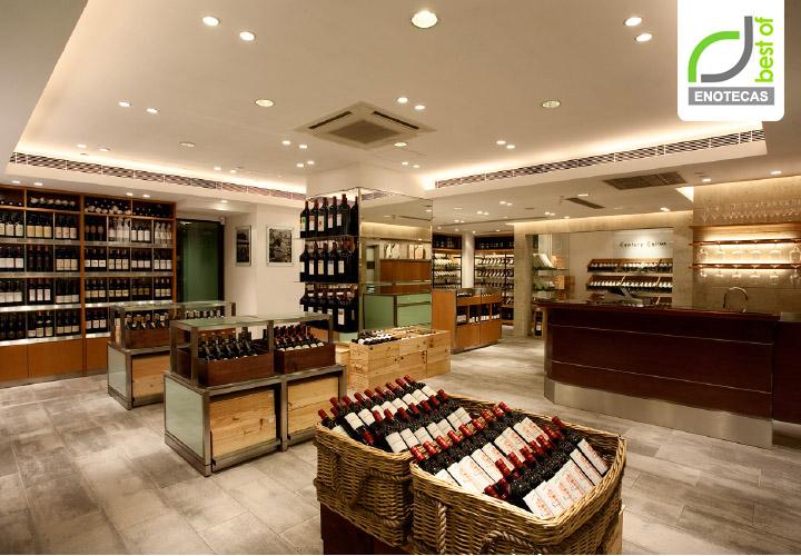 enotecas wine shop enoteca branding by amber hong kong