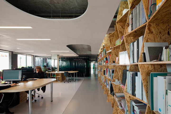 attic seating ideas - X TU Architects office Paris Retail Design Blog