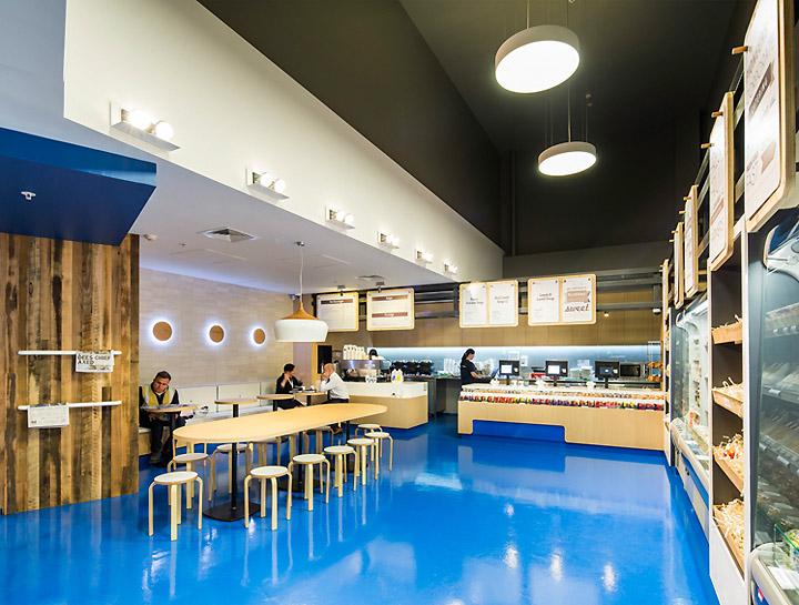 Bluebag restaurant by zwei interiors architecture