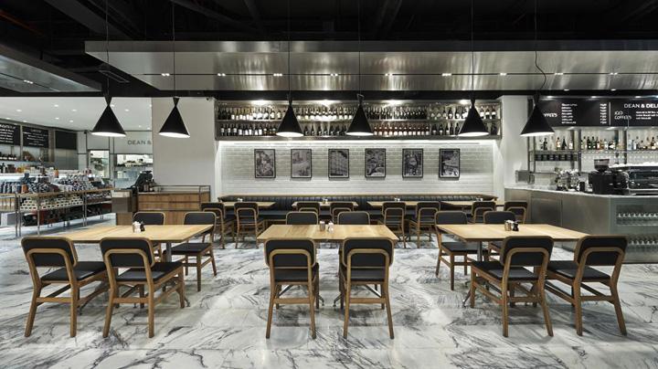Dean deluca store restaurant by kontra architecture