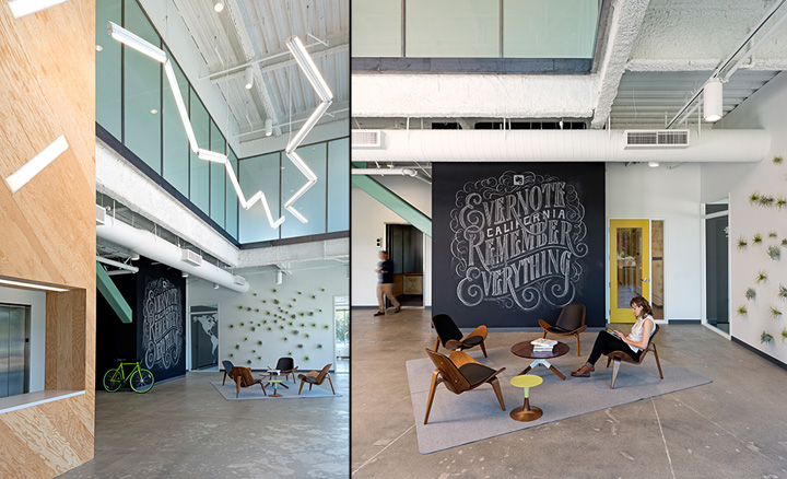 Evernote office by o a redwood city california retail for Furniture schedule interior design