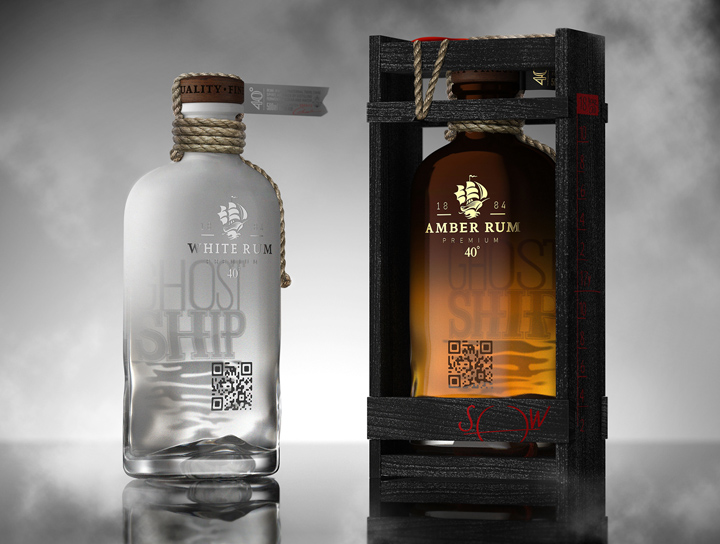 Ghost Ship Rum concept packaging by Galya Akhmetzyanova Pavla Chuykina Ghost Ship Rum concept packaging by Galya Akhmetzyanova & Pavla Chuykina