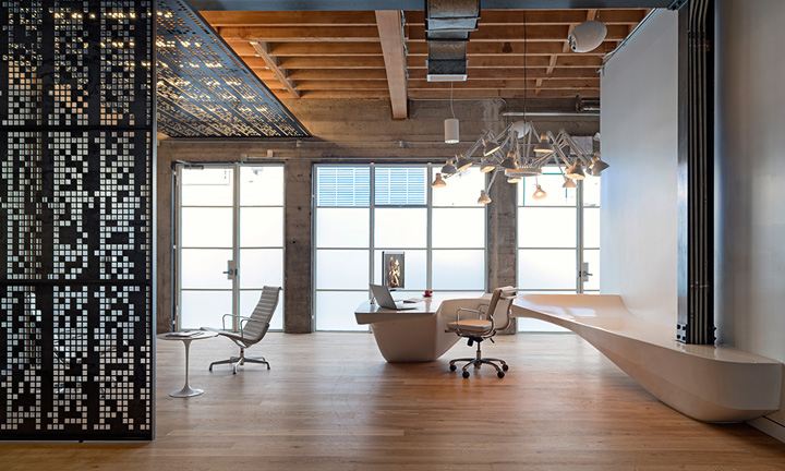 Giant pixel office by studio o a san francisco for Office design san francisco