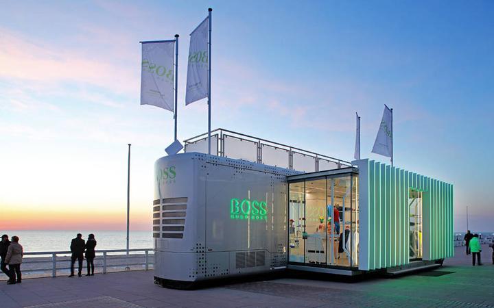 Hugo Boss Boss Green Truck mobile store by LIGANOVA