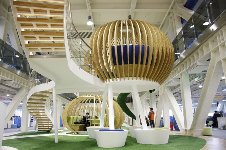 Qihoo 360 hq office by edg corporation ltd beijing for Space design ltd