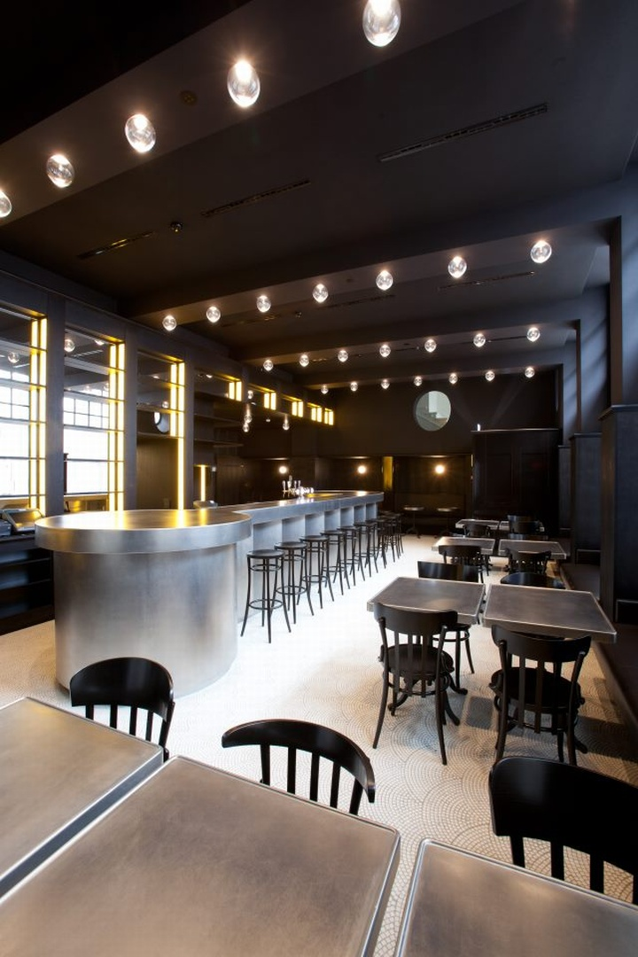 Volkshaus basel bar and brasserie by herzog de meuron - Interior leather bar free online ...