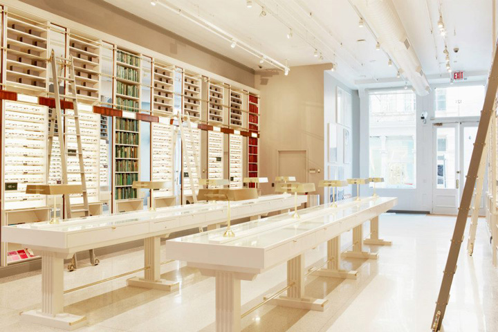 warby parker flagship store new york retail design blog