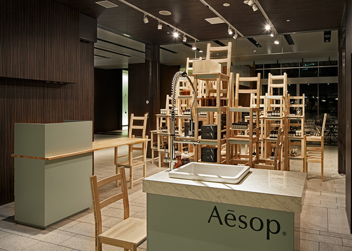 Aesop midtown installation pop up shop tokyo retail for Creative pop up shops