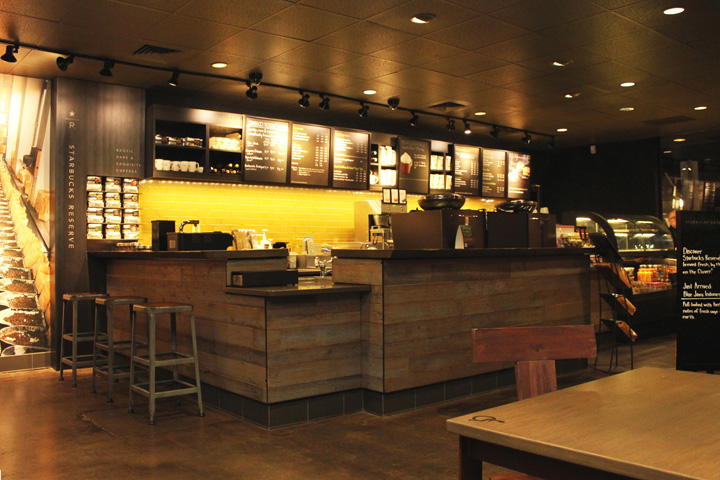 Starbucks store portland oregon retail design blog Reclaimed furniture portland