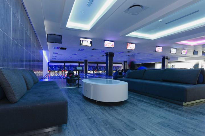 The Fun Company bowling alley bar by Black Sheep Design Johannesburg