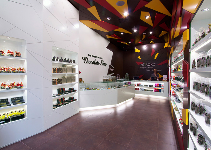 Chocolate shop retail design blog for Indesign interior