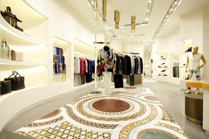 Versace Boutiques By Donatella Versace Jamie Fobert Shanghai Retail Design Blog