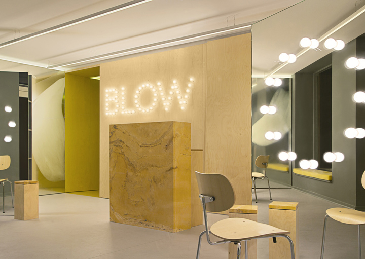 187 Blow Hair Salon By Studio David Thulstrup Copenhagen