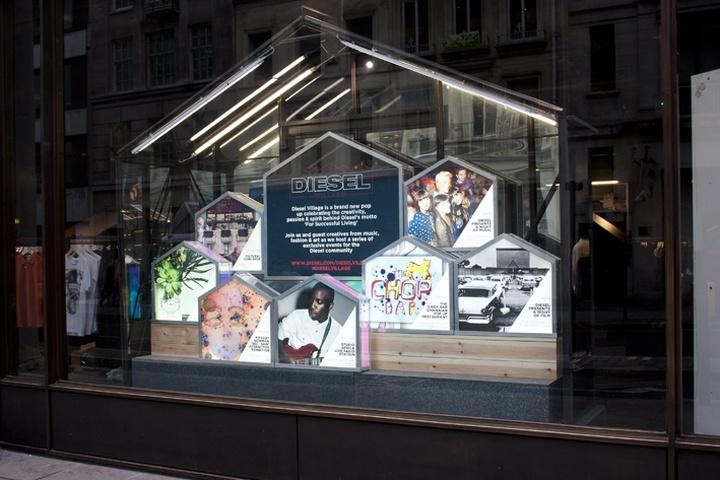 Diesel village windows by studio xag london retail for Pop up window design inspiration