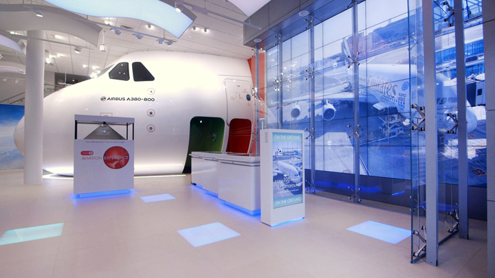 Emirates Aviation Experience digital installation by Engage Production for Pulse Group London Emirates Aviation Experience digital installation by Engage Production for Pulse Group, London