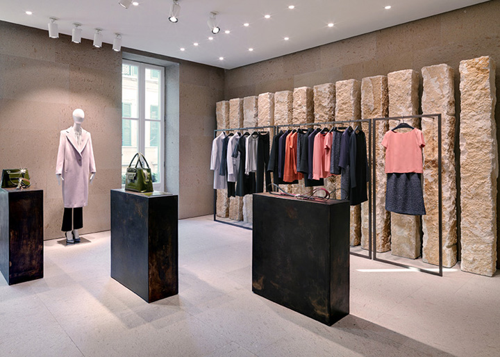 Giada fashion boutique by claudio silvestrin milan italy retail design blog for Fashion retail interior design