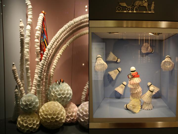 【橱窗设计】爱马仕羽毛球橱窗 新加坡