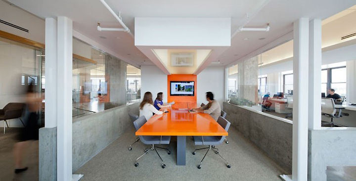 Horizon media offices by a i architecture new york
