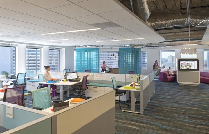 creative ceiling architectural design ideas - Kaiser Permanente Information Technology office by