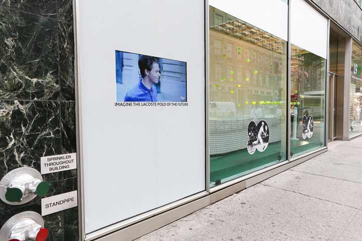 Lacoste interactive windows by m crown productions new for Window design 4 by 4