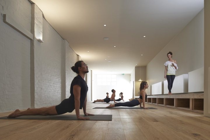 One hot yoga studio by rob mills melbourne retail for Living room yoga sessions