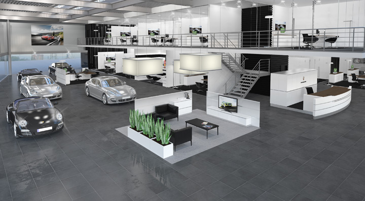 Porsche Showroom By The Store Designers 174 187 Retail Design Blog