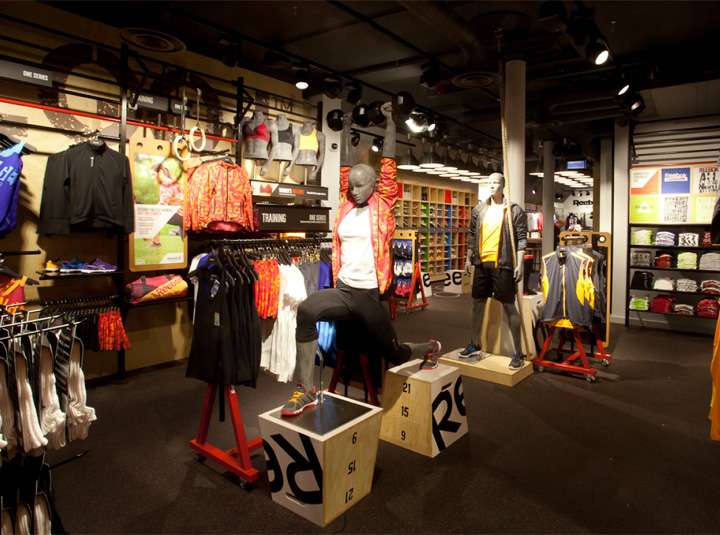 Reebok store in Covent Garden by Brown Studio London UK 02 Reebok store in Covent Garden by Brown Studio, London   UK