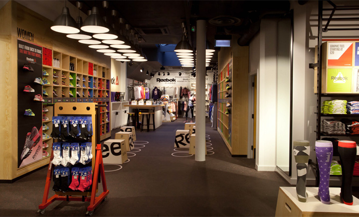 2760ed8dc62 Reebok store in Covent Garden by Brown Studio