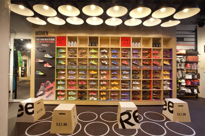 Reebok store in Covent Garden by Brown Studio ad694d611