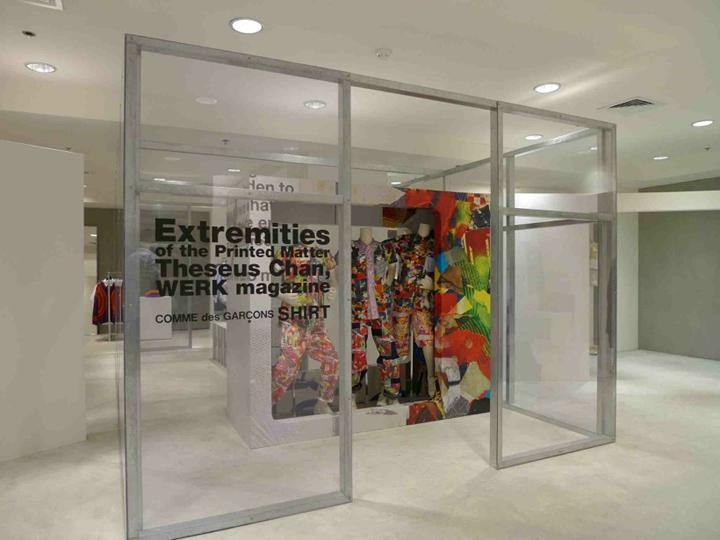 Werk x comme des garcons installation hong kong retail for Garcons restaurant singapore