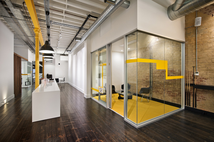 Wsp group workplace by woodhead adelaide australia for Office design yellow