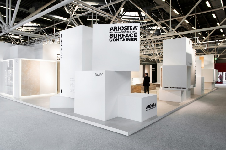 Simple Exhibition Stand Price : Ariostea surface container at cersaie by marco