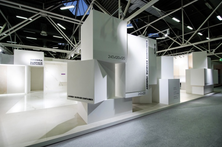 Ariostea surface container at cersaie 2013 by marco for Surface container