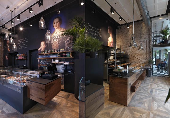 Binary bakery cafè by andrea langhi design milan italy