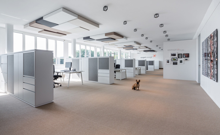 Carpet concept headquarter by actincommon bielefeld for Office design open concept