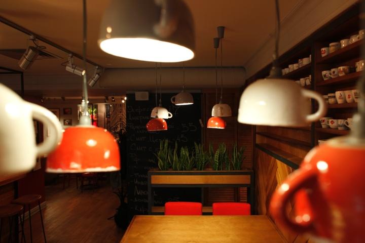 Custom Exhibition Stand Zones : Chashka espresso bar by soboleva storozhuk kyiv ukraine