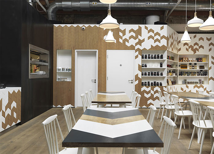 Cornerstone cafe by paul crofts studio london uk for Interior design studio uk