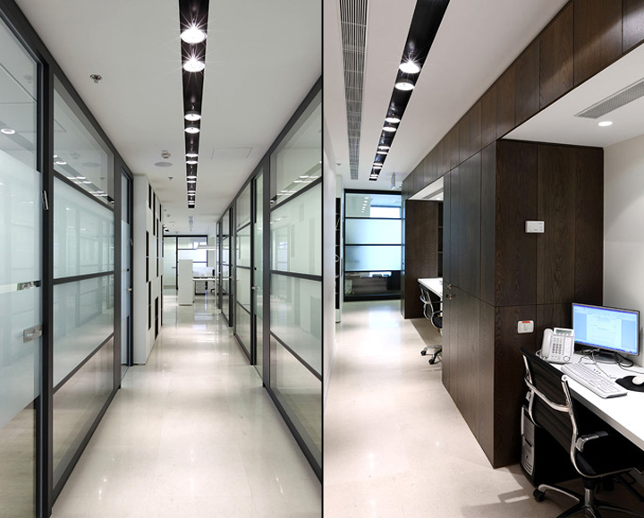 Granot lawyers offices by maya elazar studio tal feist architects tel aviv israel retail - Office ceiling lamps ...