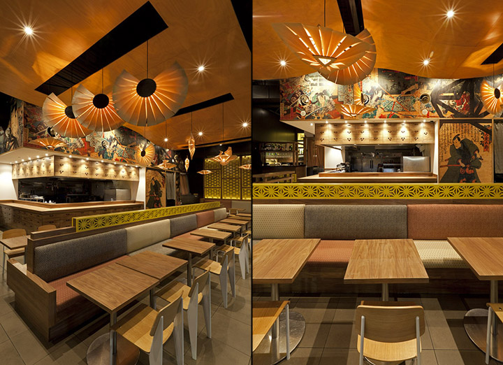 Musashi izakaya restaurant by vie studio sydney for Asian cuisine in australia