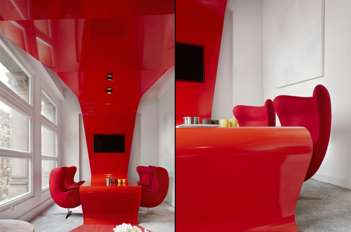 Red rock office by rolf ockert design sydney australia for Funky office designs