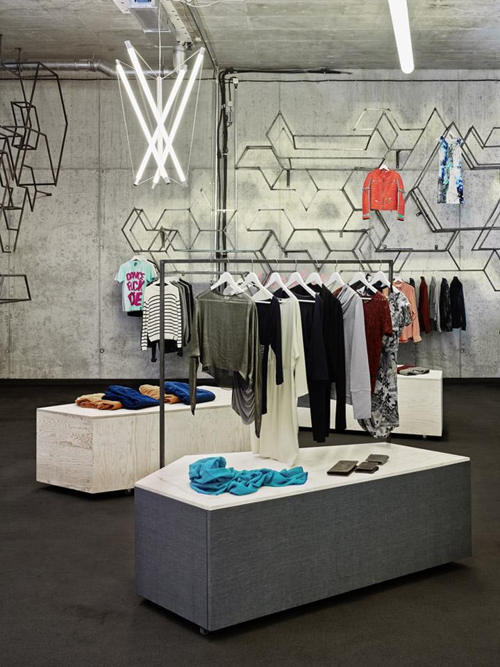stoffs chtig store by holger berg hamburg germany retail design blog. Black Bedroom Furniture Sets. Home Design Ideas