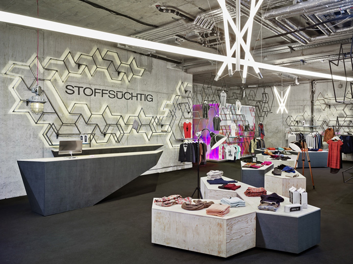 stoffs chtig store by holger berg hamburg germany retail design blog. Black Bedroom Furniture Sets. Home Design Ideas