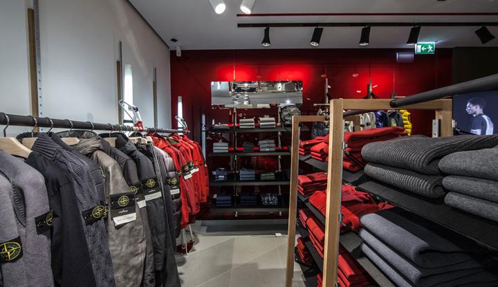 Granite Stores : Stone Island flagship store by Zeichenweg, Munich ? Germany ...