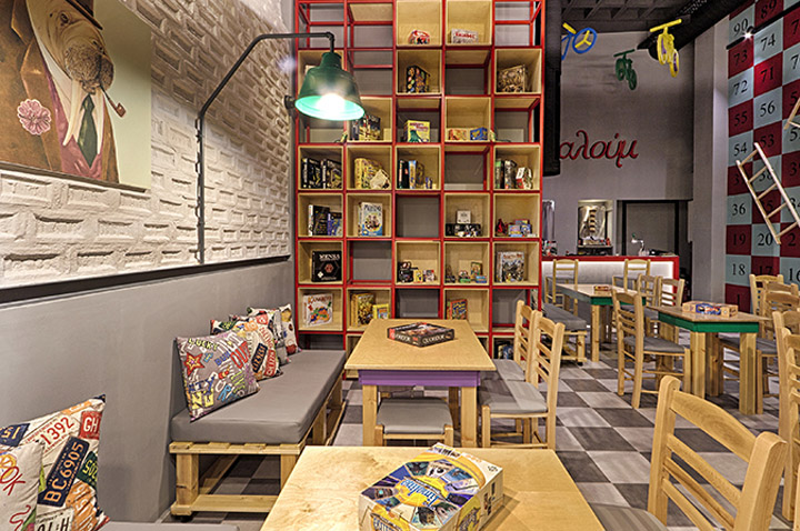 187 Alaloum Board Game Cafe By Triopton Architects Athens