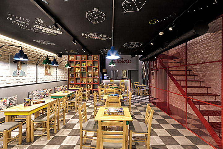Alaloum board game cafe by triopton architects athens for Designhotel athen