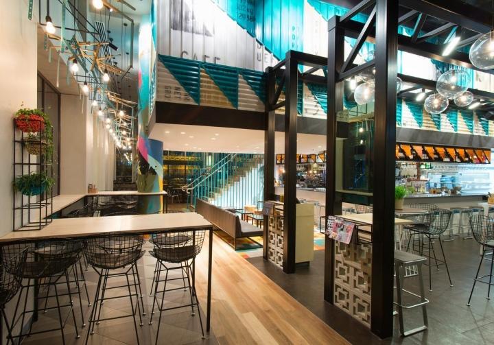 Bluetrain restaurant by studio equator melbourne