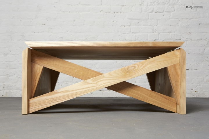 MK1 Transforming Coffee Table Wood Mini by Christopher Duffy
