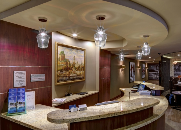 Marriott downtown by camdi design bloom lighting group for Design hotel quebec city
